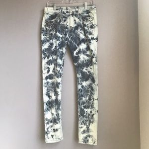 BDG Mid Rise Twig Acid Wash Ankle Cut Jeans
